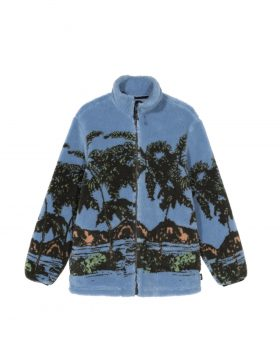 Stüssy – Hawaiian Jacquard Mock (Blue)