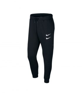 NIKE – Nike Sportswear Swoosh Men's Pants (Black/White)