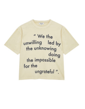 YOU MUST CREATE – Unwilling Triple SS Tee (Ecru)