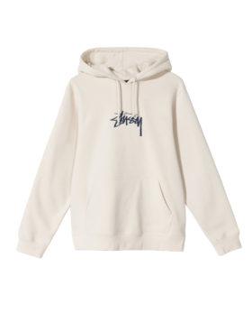 STUSSY – Stock Logo Hoodie (Cement)
