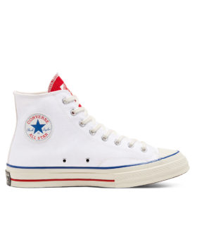 CONVERSE – Varsity Remix Chuck 70 High Top – Unisex (White/University Red/Egret)