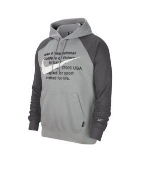 NIKE – Men's French Terry Pullover Hoodie (Black/Grey)