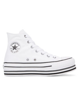 CONVERSE – Chuck Taylor All Star Platform High Top Woman (White/Black/Thunder)