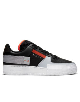 NIKE – Nike Air Force 1 Type 354 (Black/Hyper Crimson-Wolf Grey-White)