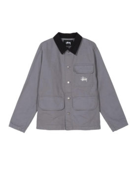 Stüssy – Washed chore jacket (grey)