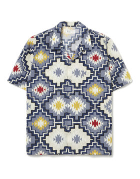 Universal Works – Road Shirt (Santa Fe Poplin Navy)