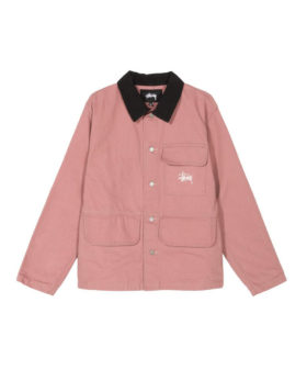 Stüssy – Washed chore jacket (rose)