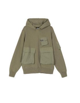 Stüssy – Cargo fleece hood (Khaki)