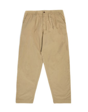 Universal works – Pleated track pant Ripstop cotton (sand)