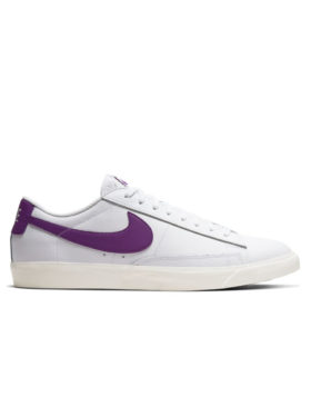 NIKE – Blazer Low Leather (White/Voltage Purple-Sail)