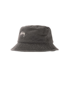 Stüssy – Stock Washed Bucket Hat (Black)