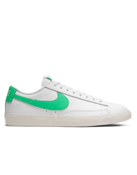 NIKE – Blazer Low Leather (White/Green Spark-Sail)