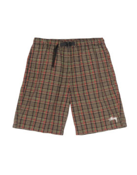 Stüssy – Plaid Mountain Short (Black)