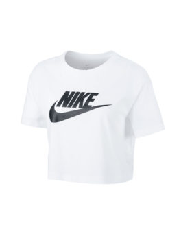 NIKE – Women's Cropped T-Shirt (White/Black)
