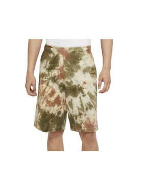 NIKE – Tie Dye Shorts Man (Medium Olive/White)