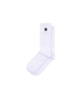 LIFE SUX – Logo Socks (White)