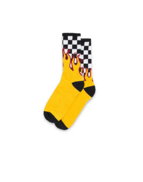 VANS –  Crew Socks Flame (Black/White/Check)