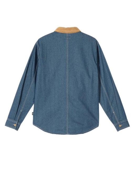 Stüssy - Cord Denim Mix Shirt (Khaki)