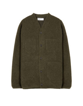 Universal Works – Cardigan Wool Fleece (Olive)