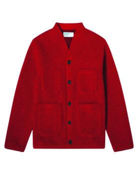 Universal Works – Cardigan Wool Fleece (Red)