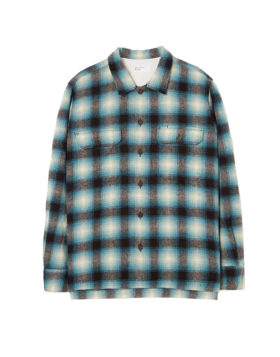 Universal Works – Utility Shirt Texas Wool Plaid (Turquoise Check)