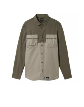VANS – 66 Supply Long Sleeve Buttondown Shirt Man (Green)
