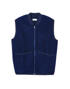 Universal Works – Zip Waistcoat Wool Fleece (Navy)