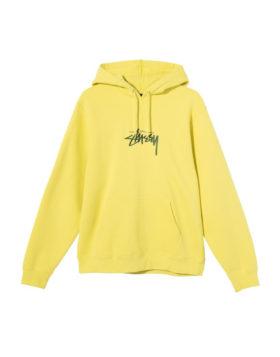 Stüssy – Stock Logo Hoodie (Lemon)