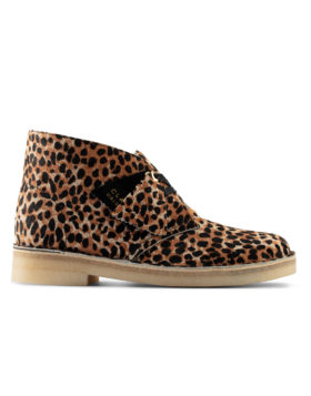 CLARKS – Desert Boot Woman (Leopard Prt Pony)