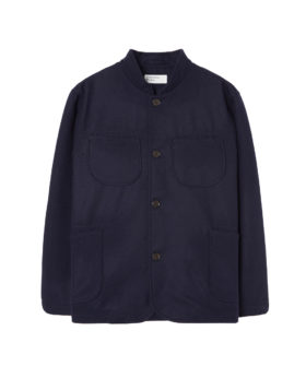 Universal Works – Melton Nehru Jacket (Navy)