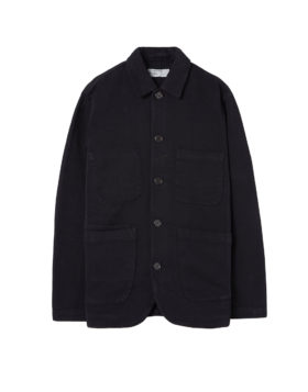 Universal Works – Trio Twill Bakers Jacket (Black)
