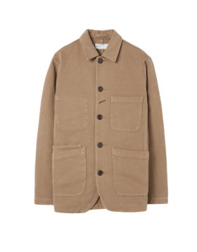 Universal Works – Trio Twill Bakers Jacket (Taupe)