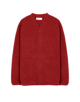 Universal Works – Cardigan Wool Fleece (Red)