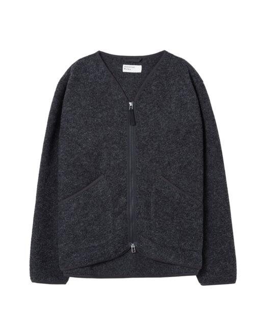 Universal Works - Zip Liner Jacket in Wool (Charcoal)