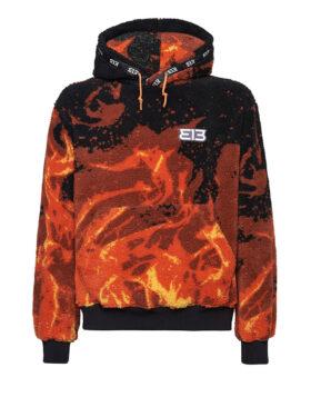313 – Fleece Hoodie Fire