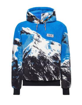 313 – Fleece Hoodie Mountain