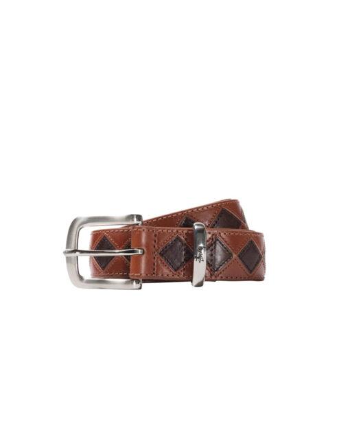 Stüssy - Argyle Stitch Leather Belt