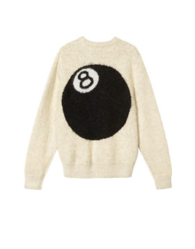 Stüssy – 8 Ball Heavy Brushed Mohair Sweater (Cream)
