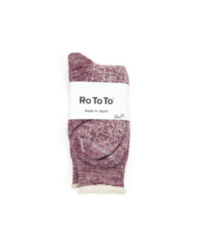 RoToTo – Double Face Crew Socks (Grape)