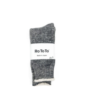 RoToTo – Double Face Crew Socks (Charcoal)