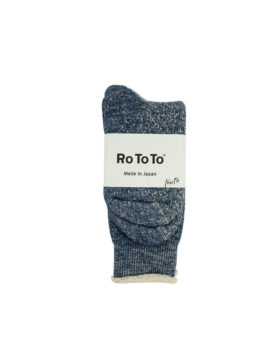 RoToTo – Double Face Crew Socks (Deep Ocean)