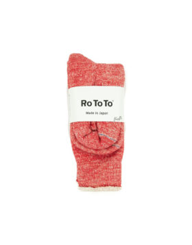 RoToTo – Double Face Crew Socks (Red)