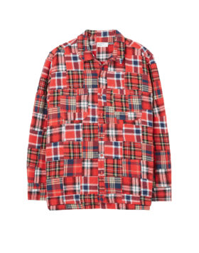 Universal Works – Garage Shirt II in Brushed Patchwork (Red)