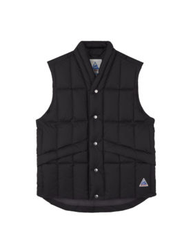YOU MUST CREATE – Cape Heights North Downs Poly Ripstop Gilet (Black)