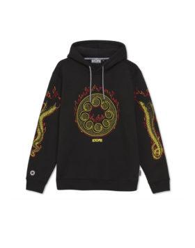 OCTOPUS – More Fire Logo Hoodie (Black)