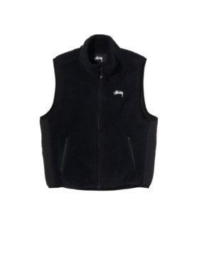 Stüssy – Block Sherpa Vest (Black)