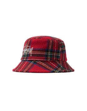 Stüssy – Big Logo Plaid Bucket Hat