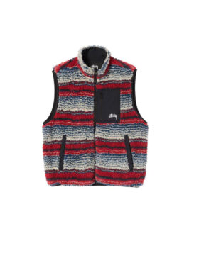 Stüssy – Striped Sherpa Vest
