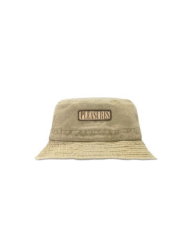 PLEASURES – Washed Khaki Bucket Hat