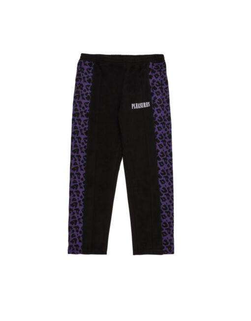 pantalone pleasures elastico nero viola